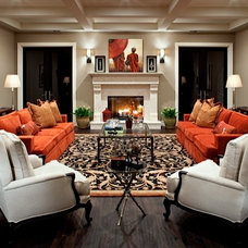 Mediterranean Living Room by Richard W. Herb and Associates