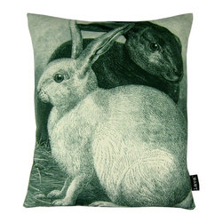 Lava - Rabbits 16 x 19 Pillow - 100% polyester cover with 100% Feather fill. Made in USA. Spot clean only