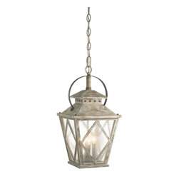Kichler - Kichler Hayman Bay 4-Light Distressed Antique White Down Pendant - 43259DAW - This 4-Light Down Pendant is part of the Hayman Bay Collection and has a Distressed Antique White Finish.