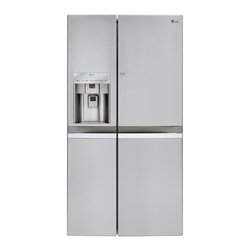 LG - LSC22991ST Large Capacity Counter-Depth Side-by-Side Refrigerator with Door in D - This feature is as functional as it is sophisticated with LED lighting and hidden hinges With a combined 21 cu ft of space you can stock up and feed a large family