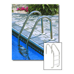 Blue Wave - Blue Wave In-Ground 3 Step Stainless Steel Ladder - In-Ground 3-Step Stainless Steel Ladder - Plastic Tread Manufactured From High Quality Stainless Steel That Will Withstand Sun, Chlorine And Cold. Stainless Steel Tubing Is Super Strong And Provides Secure Entry. Smaller Diameter Tube Allows Easy And Safe Grip For Women And Kids. Bronze Deck Anchors And Stainless Steel Escutcheons Must Be Purchased Separately.