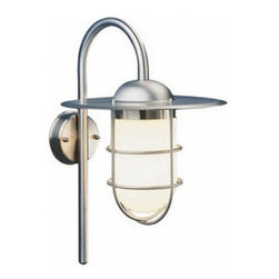 """Heibi - Heibi Lita outdoor wall sconce - Product Details:    The Lita outdoor wall sconce consists of a brushed Premium stainless steel finish with an opaline glass. The light distribution is even to all sides. Lita is MADE IN GERMANY and comes with a 10 year warranty against rust.   All products by the manufacturer Heibi are innovative and quality products that are manufactured in their own production facilities in Germany Over 70 years of experience and conventional, craftsmanship and modern technology form the basis for it Heibi stands for high quality and carefully selected materials, with reliance on durability and longevity       Manufacturer:    Heibi      Designer:    In house design      Made in:    Germany      Dimensions:    Height: 18.1"""" (46 cm) X Width: 10.4"""" (27 cm) X Proj: 13.4"""" (34cm)       Lighting:    1 x max 60W Incadescent - Medium base        Materials:    Premium stainless steel, blown glass"""