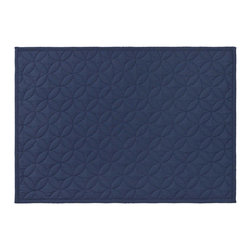 Pine Cone Hill - Pine Cone Hill Straight Edge Indigo Quilted Placemats, Set of 4 - Pine Cone Hill Straight Edge Indigo Quilted Placemats, Set of 4Get stitched up in style with Pine Cone Hill's Straight Edge Indigo Quilted Placemats, Set of 4. Crafted from fine cotton fabric, these placemats have all the charm of your favorite quilted blanket. Overlapping circles form a subtle pattern on the deep blue background, while clean edges keep things simple and unfussy. Lay them out to pretty up your country tablescape, or let them act as a refined touch in any dining room. Sew it up!Set of four placemats