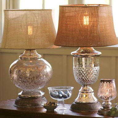 Serena Antique Mercury Glass Lamp Bases - These lamps would be a classic addition to almost any space.