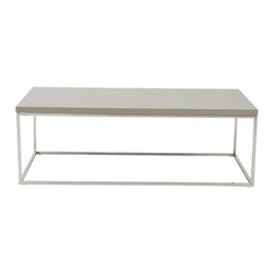 Euro Style - Euro Style Teresa Rectangular Coffee Table 09801TPE - There's plain and there's perfect. This collection of 4 Teresa table designs are not only perfectly designed for strength and timeless style, they work beautifully together. Go for the group.