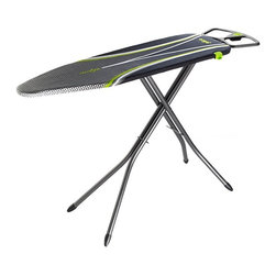 Minky Homecare - Minky Homecare Ergo Ironing Board with Prozone Cover Multicolor - HH40201108M - Shop for Ironing Boards from Hayneedle.com! People don't come in just a few preset sizes - why should the Minky Homecare Ergo Ironing Board with Prozone Cover? Backaches from awkward positioning are a thing of the past with this impressive ironing board's infinite height adjustment capability offering you an ergonomic experience that will help you move faster and feel better. In addition the board has been designed specifically to work within natural arm movements providing increased speed and comfort. This includes right- and left-handed iron holders on the end that are angled away from the user for an easier reach. On top of the board surface sits an innovative Prozone cover with strategically placed reflective surfaces that help speed the ironing process so you won't have to spend your day in front of a basket of laundry. About Minky HomecareWith a history that stretches clear back to the mid-nineteenth century Minky Homecare has the experience and integrity to ensure that your housework is quick and easy. Part of Vale Mill Minky Homecare is a family owned and run business which means personal care and commitment to developing the very best cleaning products on the market. From prepacked cleaning cloths to ironing boards from air driers to household cleaners and organizers Minky has been on the cutting edge of homecare for over half a century. As a result they have grown into international markets and have even been granted a warrant by the British Royal Household. With Minky Homecare housework is a pleasure and does itself when you don't want to.