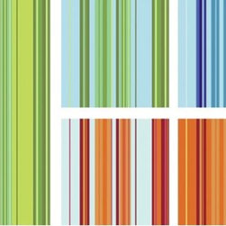 Stripes - These colorful, fun stripes are the perfect addition to any room. Photo by Casart Coverings