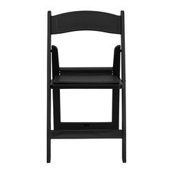 Flash Furniture - Flash Furniture Hercules Series Folding Chair in Black - Flash Furniture - Folding Chairs - LEL1BLACKGG - This Hercules Series Folding Chair features a 1000 lb. weight capacity so that you can be assured that it will accommodate any function. From indoor or outdoor weddings to other upscale events this resin folding chair will never let you down. Featuring a padded vinyl seat our black folding chair will provide an excellent solution to all your event planning needs. [LE-L-1-BLACK-GG]
