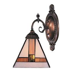 Elk Lighting - Elk Lighting 071-TB-01 Mix-N-Match Traditional Wall Sconce - Mix-N-Match 1-Light Sconce In Tiffany Bronze