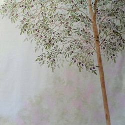 Life-sized Olive Tree Stencil Set - Create Life-sized Olive Trees on your walls with this unique stencil set.