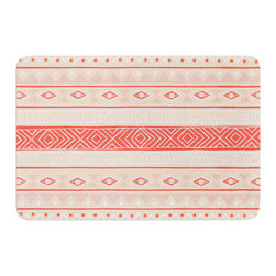 """KESS InHouse - Skye Zambrana """"Mojave"""" Orange Red Memory Foam Bath Mat (24"""" x 36"""") - These super absorbent bath mats will add comfort and style to your bathroom. These memory foam mats will feel like you are in a spa every time you step out of the shower. Available in two sizes, 17"""" x 24"""" and 24"""" x 36"""", with a .5"""" thickness and non skid backing, these will fit every style of bathroom. Add comfort like never before in front of your vanity, sink, bathtub, shower or even laundry room. Machine wash cold, gentle cycle, tumble dry low or lay flat to dry. Printed on single side."""