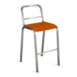 Nine-0 Stacking Bar Stool, Open Back
