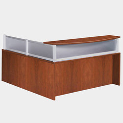 Boss - Plexiglass Reception Desk - Cherry - The reception desk shell can be used alone or in conjunction with other reception items. This Cherry unit makes a good first impression every time. Cherry finished wood with Plexiglass.