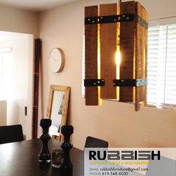 Reclaimed Wood Light Fixture - oephoto