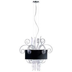 jellyfish chandelier - clear murano styled glass with black shade and silver liner, this jellyfish chandelier is sure to add an artistic touch to any room. available at hautebox.co