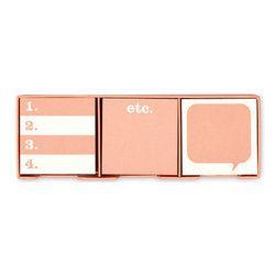 """Kate Spade - Kate Spade Neon Sticky Note Set - You want to be heard? You will be with these darling 3 x 3 sticky notes. Each one of the three designs is a message waiting to be read. Set of 3 pads, 200 sheets per pad, dispenser size 1 3/4""""H X 9 1/4""""W X 3""""D"""