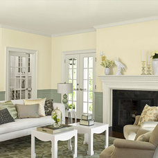 Yellow Living Room Paint Color Combinations - Benjamin Moore
