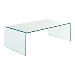 LexMod - Pioneer Transparent Glass Coffee Table - Articulate unique insights as you relax around the Pioneer Glass Coffee Table. Clear vision abounds in this piece of confidence and accessed hidden capabilities. The ethereal look of the single piece of transparent tempered glass hints to the natural rejoicing within each of us.