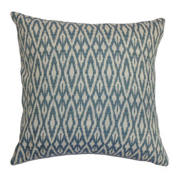 The Pillow Collection - Hafoca Ikat Pillow Denim - - Comes standard at 18 x 18  - Reversible pillow with same fabric on both sides  - Includes a hidden zipper for easy cover removal and cleaning  - Comes standard with a down pillow insert  - All four sides have a clean knife-edge finish  - Pillow insert is 19 x 19 to ensure a tight and generous fit  - Cover and insert made in the USA  - Spot cleaning recommended  - Fill Material: Down  - Pillow cover made of Cotton The Pillow Collection - P18-D-71025-DENIM-C42P38R20