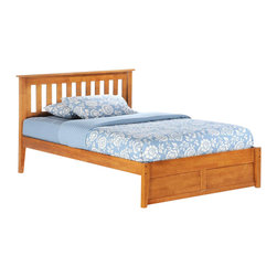 Night & Day Furniture - Rosemary Twin Platform Bed in Medium Oak (Ful - Choose Bed Size: FullBed includes headboard, footboard, rail and slat. 100% Malaysian Rubberwood construction. Warranty: 10 years. Medium Oak finishBed dimensions:. Twin Headboard: 41.3 in. W x 44.7 in. L (22 lbs.). Twin Footboard: 16.3 in. W x 42.4 in. L (11 lbs.). Full Headboard: 41.3 in. W x 59.7 in. L (30.9 lbs.). Full Footboard: 16.3 in. W x 57.3 in. L (15.4 lbs.). Queen Headboard: 41.3 in. W x 65.7 in. L (35.3 lbs.). Queen Footboard: 16.3 in. W x 63.3 in. L (22 lbs.). Eastern King Headboard: 41.3 in. W x 81.7 in. L (39.7 lbs.). Eastern King Footboard: 16.3 in. W x 79.4 in. L (26.5 lbs.)Have you ever noticed that rosemary will grow nearly anywhere, in nearly any environment? And it adds great taste to whatever it's combined with. That's one attractive, tough and versatile ingredient. Similarities to our Rosemary bed are absolutely striking.