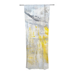 "Kess InHouse - CarolLynn Tice ""Abstraction"" Grey Yellow Decorative Sheer Curtain - Let the light in with these sheer artistic curtains. Showcase your style with thousands of pieces of art to choose from. Spruce up your living room, bedroom, dining room, or even use as a room divider. These polyester sheer curtains are 30"" x 84"" and sold individually for mixing & matching of styles. Brighten your indoor decor with these transparent accent curtains."