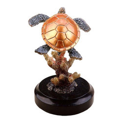 SPI - Small Brass Sea Turtle Metal Nautical Statue Home Decor - SPI Gallery artists have spent years perfecting their trade.