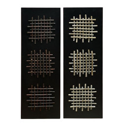 Benzara - Wall Decor Black Amozonia - Set of 2 - Wall Decor 2/Asst is an excellent anytime low priced wall decor upgrade option that is high in modern age decor fashion. It is beautifully sculptured by the experienced artists as Set of two Black Amozonia Wood Wall Art Decor Sculpture.