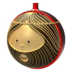 """Alessi - Alessi """"Giuseppe"""" Christmas Bauble - What a great accompaniment to your holiday Manger set! This happy rendition of Jesus' father is made from blown glass and features exquisite detail. It keeps your tree in the spirit of Christmas."""