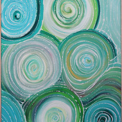 """""""Reverberate"""" (Original) By Regina Davidson - The Definition For The Word Reverberate: To Continue In Or As If In A Series Of Echoes."""