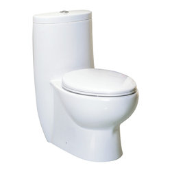 Whitehaus Collection - Whitehaus WHMFL3309-EB Magic Dual Flush One Piece Elongated Toilet - The Whitehaus Collection Magic Flush features A+ grade china, 35-45mm thick. the dropway, or inner waste tube, of our toilets is fully glazed. This means 0% absorption – there is no where for bacteria to cling to and ensures cleaning to be much easier, resulting in a more hygienic water closet experience.