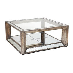 Z Gallerie - Pascual Coffee Table - I love the mix of mirror and wood on this table.