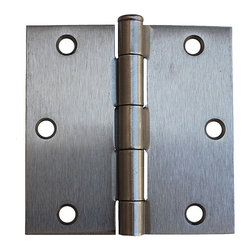 GlideRite - GlideRite 3.5-inch Square Corner Satin Nickel Door Hinges (Pack of 12) - Keep your home's hardware coordinated with this set of nickel door hinges. In addition to their satin nickel finish and steel construction,these feature a square shape,full-mortise design,and removable pin that make them strong and easy to install..