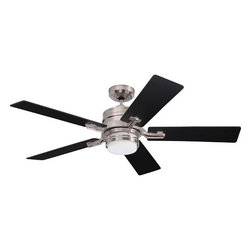 """Emerson - Emerson CF880BS, Amhurst Brushed Steel 54"""" Ceiling Fan with Light & Wall Control - Emerson Amhurst 2 Light Ceiling Fan in Brushed Steel CF880BS"""