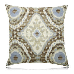 Elaine Smith - tierra ikat pillow (22x22) - Performance pillows from renowned textile designer Elaine Smith® feature unique fabrics that are both soft and stylish, rich in color, lavish in detail, and impervious to the elements.