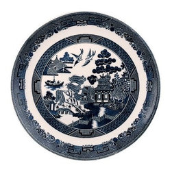 Johnson Brothers Willow Earthenware Dinner Plate - Blue - Set of 6 - Beautifully designed with great attention to detail, the Johnson Brothers Willow Earthenware Dinner Plate - Blue - Set of 6 is a gorgeous addition to any home. This exotic orient design captures the romantic story of two birds symbolizing lovers whose spirits will fly together for eternity in great detail. Detailed bands with geometric patterns around the borders brings out the beauty of the design. Its intricate and delicate look belies the strength and durability of this set. Crafted from earthenware that's made to last, this set is dishwasher and microwave safe.About WedgwoodThrough highly skilled craftsmanship and the highest quality standards, Wedgwood manufactures quality ceramics with sophisticated, classical, and contemporary design. With a tradition of innovation, quality, and craftsmanship, Wedgwood designs are widely acknowledged as timeless, elegant, classic, and understated. Their design teams work with external designers for cross-pollination of ideas and experience. Founded in 1759 by Josiah Wedgwood, Wedgwood has been an international company determined to uphold their standards in order to maintain their leadership in the world's markets. Though their roots are over two centuries old, the company strives to stay current through partnerships with fashion designers Jasper Conran and Vera Wang with whom they've developed contemporary and stylish ranges that appeal to the younger consumers.