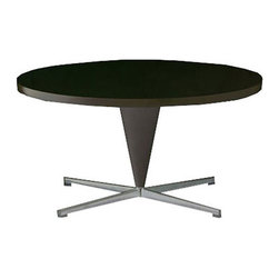 Vitra - Vitra Cone Table, Black - With its conical leg and cruciform base in satin-finish stainless steel, Verner Panton's low Cone Table makes an ideal companion for Panton's Cone Chair or Heart Cone Chair. While the occasional table bears Panton's clear signature, it can also be combined with many other chairs, armchairs and sofas due to its understated design.