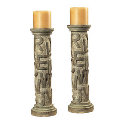 Sterling Industries - Sterling Industries 93-9166 Alphabet Table Candle Holders - Candle Holder (2)