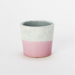 Color-Block Pot, Pink - How about a color-blocked pot filled with kitchen herbs?