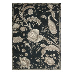 Nourison - Artisanal Delight Floral Noir 8' x 10' Waverly Rug by RugLots - Artisanal Delight Collection by Waverly presents a mixture of classic and stylish floral patterns, combined with trendy, current graphic designs, to round out a savvy, fresh offering. Made of cut pile and accentuated with hand-carving, these designs come to life in rich color palettes that emphasize the Waverly brand while anchoring its position as a trend-setter in home furnishings