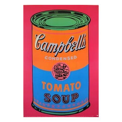 Huge Andy Warhol Official Authorized Campbells Soup Can - ORIGINAL FAB ANDY WARHOL OFFICIAL LIMITED EDITION TOMATO SOUP!, This is a wonderful exciting SPECIAL EDITION LARGE OVERSIZE rare Lithograph Print Created by Artist Andy Warhol. It is the authorized edition of one of his most Iconic and lasting images! Features bright, bold rich color tones in this print, excellent!Made of the very Finest Archival Museum quality Paper and in excellent NEW MINT CONDITION is Highly desirable for collectors. Approved and Authorized by the Andy Warhol Foundation. This is a very large Print reproduction, perfect for any elegant home, office, restaurant or place of business.