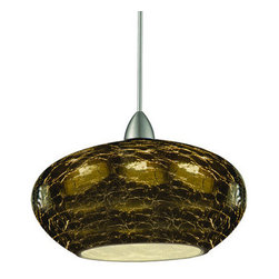 WAC Lighting - WAC Lighting MP-LED534  Canopy Mount LED Pendant Rhu Collection - Art Deco / Retro Canopy Mount LED Pendant from the Rhu CollectionDark and mysterious, the Rhu collection offers the height of Art Deco style and flair. This classy one light LED canopy mount fixture is hand crafted, featuring mouth blown smoke crackled art glass finish that catches the light to give your home a sparkle and elegance. Featuring a low wattage LED lamp, this fixture consumes only 6 watts, blending art deco styling and modern technology.WAC lighting's collection of QUICK CONNECT fixtures includes hundreds of choices to suite your every need. QUICK CONNECT fixtures are available in a wide range of finishes and glass colors to accommodate many design concepts.Features: