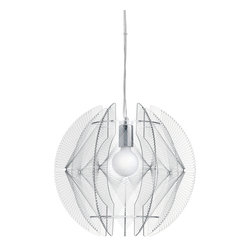 Nuevo Living - Mercury Pendant Lamp - Strong lighting can instantly transform a room from bland to bold. The modern design of this clear acrylic and chrome pendant makes the ultimate statement in a modern home. Its eclectic beauty casts a soft light of sophistication in all directions.