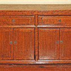 Asian Buffet Cabinet & Sideboard - Antique Asian Buffet Cabinet
