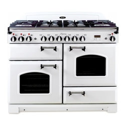 """AGA - ALEBS-44-DFCD-VWT Legacy Series  44"""" Freestanding Pro-Style Dual Fuel Range with - For classic looks with modern features look no further than the Aga Legacy Unique gleaming spiral handles set off the curvaceous doors to satisfy the design conscious A versatile cooktop and flexible electric ovens indulge those with the highest culi..."""