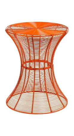 Southern Enterprises - Metal Spiral Accent Table - Orange - Looking for an artistic accent to brighten up your space? Add a playful touch to your home with this metal accent table. A modern, contemporary design makes this orange wire accent table a fabulous addition for any home. Designed with layers of wire and beautiful curves, this table is both functional and stylish. The round table surface is 14. 75 inches across, making it the perfect size for holding the essentials or decor without collecting clutter. This accent table is made of solid iron wire with a powder-coated finish for indoor or outdoor use. Whether you place this accent table beside your sofa or on your patio, it is sure to enhance the area. Try working with symmetry and balance by using more than one in a room or patio!