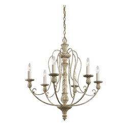 Kichler Lighting - Kichler Lighting 43257DAW Hayman Bay Lodge/Country/Rustic Chandelier - Kichler Lighting 43257DAW Hayman Bay Lodge/Country/Rustic Chandelier In Distressed Antique White
