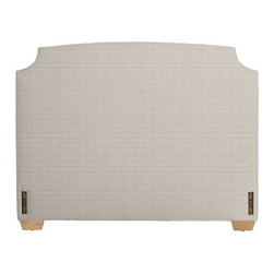 Serena & Lily - Fillmore Headboard - The Fillmore headboard has a unique shape, and I like the light basket-weave fabric.