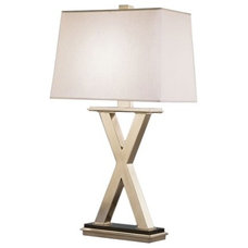 Robert Abbey Tic-Tac-Toe Table Lamp in Silver - X Marks the Spot on Joss & Main
