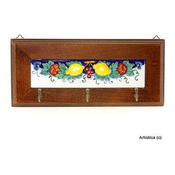 Artistica - Hand Made in Italy - MAJOLICA FRUTTA: Keys/Coat Hanger - MAJOLICA FRUTTA Collection.