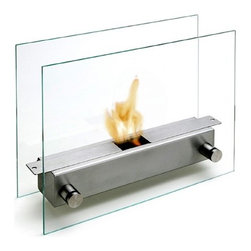 "Carl Mertens Apollo Tabletop fireplace - A tabletop fireplace! Who knew? Wow, wouldn't this be perfect? At approximately 13"" x 11"" it would make a simply stunning centerpiece!"